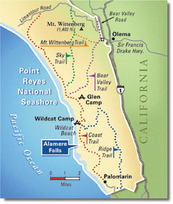 Custom National Parks Map of Point Reyes